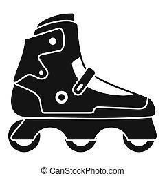 Indoor inline skates icon, simple style - Indoor inline...