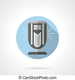 Indoor ionizer round flat vector icon - Portable electrical...