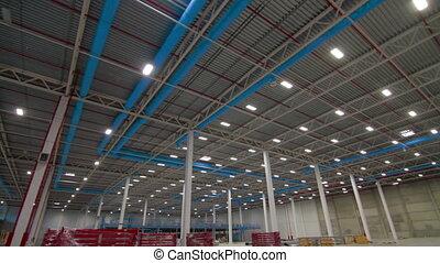 Indoor new modern industry warehouse