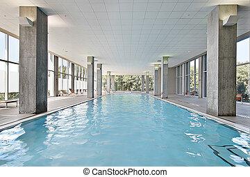 indoor, piscina, natação