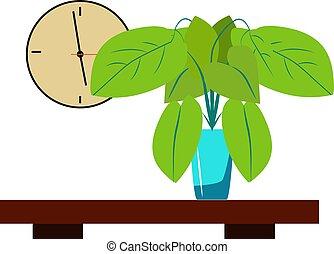 Indoor plant, illustration, vector on white background.