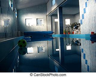 Indoor pool luxury swimming resort with still water