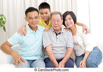 asian 3 generations family