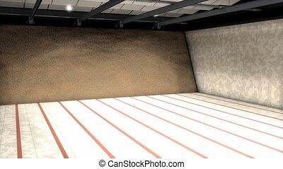 Indoor shooting range.