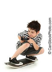 Indoor Video Game Skateboard Player