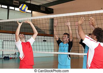 Indoor volleyball match