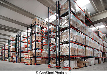 Indoor wharehouse - Shelves manufacturing storage in a...