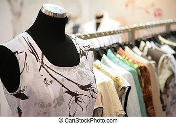 indossatrice, in, negozio