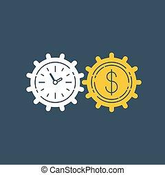 indtjene, firma, udveksling, penge, ikon, finanser, aktie