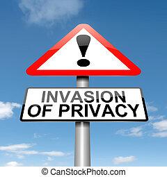 indtrængen, warning., privatliv