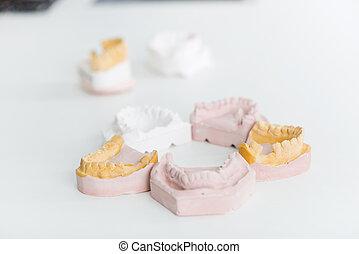 indtryk, dentale, laboratorium