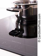 indução, cozinheiro, modernos, kitchen;