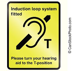 Induction Loop Facility - Yellow Induction loop system...