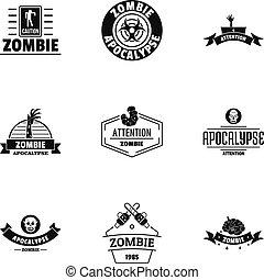 Indulge logo set, simple style - Indulge logo set. Simple...