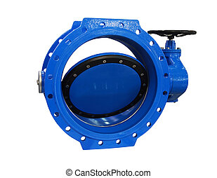 Industial valve - Big blue industrial valve for the main...