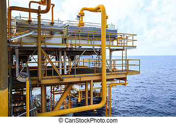 industri, olja, gas, utanför kusten