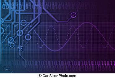industri, totala telekommunikationer, nätverk
