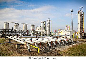 industria, aceite, gas