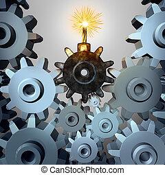 industria, bomba, tempo