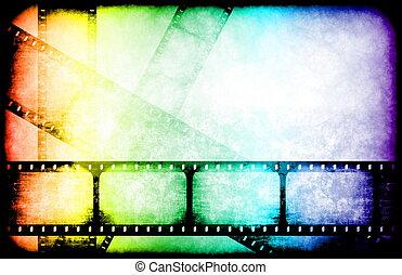 industria de película, carretes, toque de luz