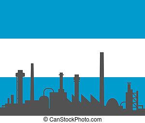 industria, e, bandiera, di, argentina