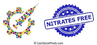 industria, estampilla, nitrates, caucho, libre, coloreado, brillante, mosaico, vacuna