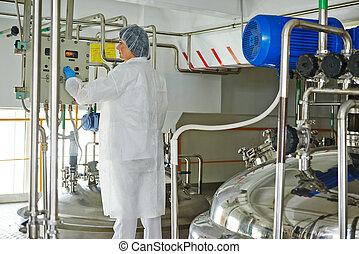 industria farmaceutica, lavoratore, fabbrica