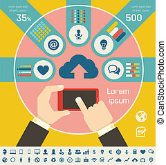 industria, infographic, esso, elementi