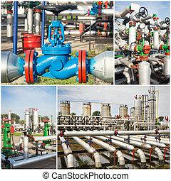industria olio, collage