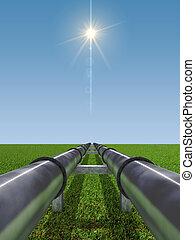 industria, olio, gas