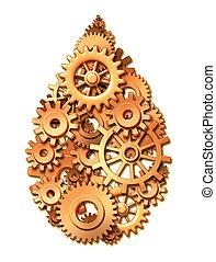 industria, olio, simbolo