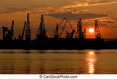 industria, puerto