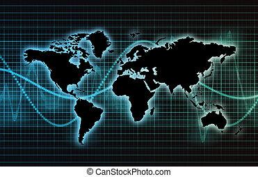 industria, telecomunicaciones globales, red