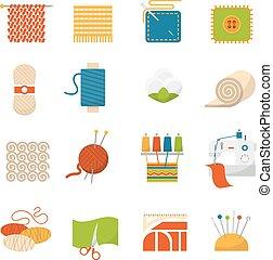 industria textil, iconos