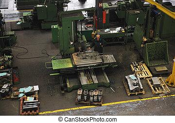 industria, trabajadores, las personas presente, fábrica
