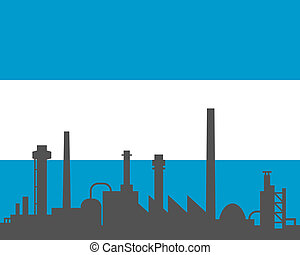 industria, y, bandera, de, argentina