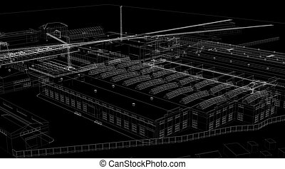 Industrial abstract architecture