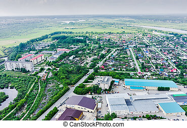 Industrial and residential district. DOK. Tyumen