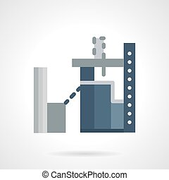Industrial architecture flat vector icon