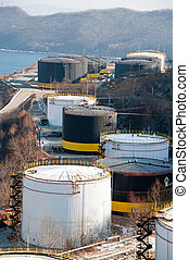 Industrial Area - industrial area sea port oil reservoirs