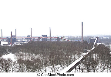Industrial area - View on industrial area in Germany