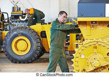 industrial, assembler, trabajador