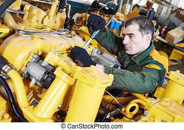 industrial assembler worker