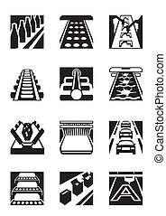 Industrial assembly lines - vector illustration