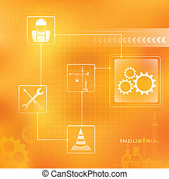 Industrial Background - illustration of Industrial...