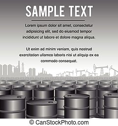 Industrial Background Template Vector