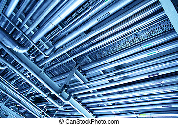Industrial background - Tubes, may be used as industrial ...