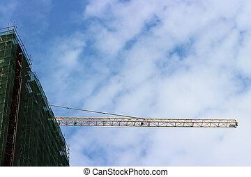 Industrial background with crane