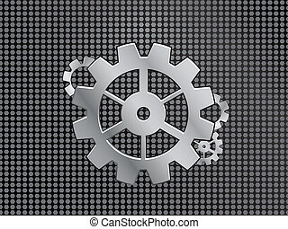 industrial background with gears