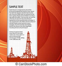 industrial, bandera, para, su, texto